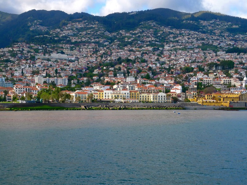 View of Funchal bay from the sea